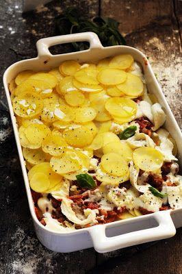 Mais pourquoi est-ce que je vous raconte ça... Dorian cuisine.com: Détournement d'idées au programme et si les lasagnes devenaient complètement pompompom de terre ?? Lasagnes de Pompompom de terre !