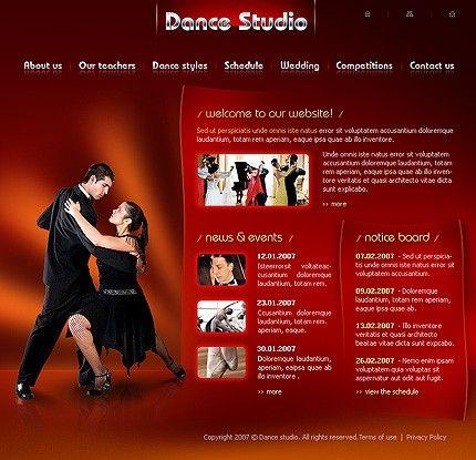 Dance Studio Flash Templates by Modlin