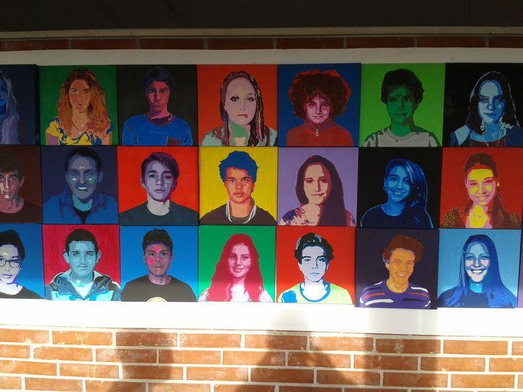 """Ritratti, Discipline pittoriche, classe 2°, a.s.2015/16. Liceo artistico """"S.Stagi"""" Pietrasanta."""