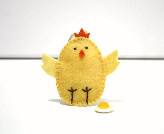 Holiday Felt ornament Easter Chick Pastel by FruityCocoIsland, $8.00-Easter time!