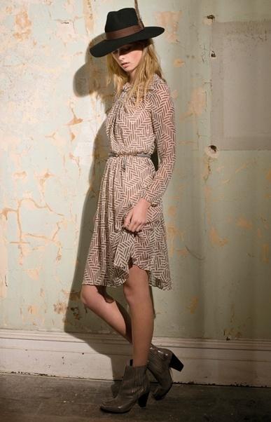 dress + boots = love    Zimmermann Independent Knot Dress