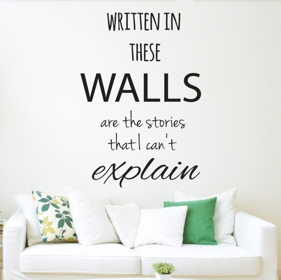 One direction 1D Written in these wall are the stories that I canu0027t explain Wall  Decal Quote - The Story of my Life Song Lyrics - Wall Art