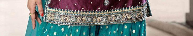 Wine Art silk Salwar kameez with Dupatta Online Shopping: SLKBR176