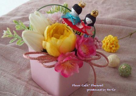 アーティフィシャルフラワー(造花)のひなまつりアレンジ|ハンドメイド、手作り、手仕事品の通販・販売・購入ならCreema。