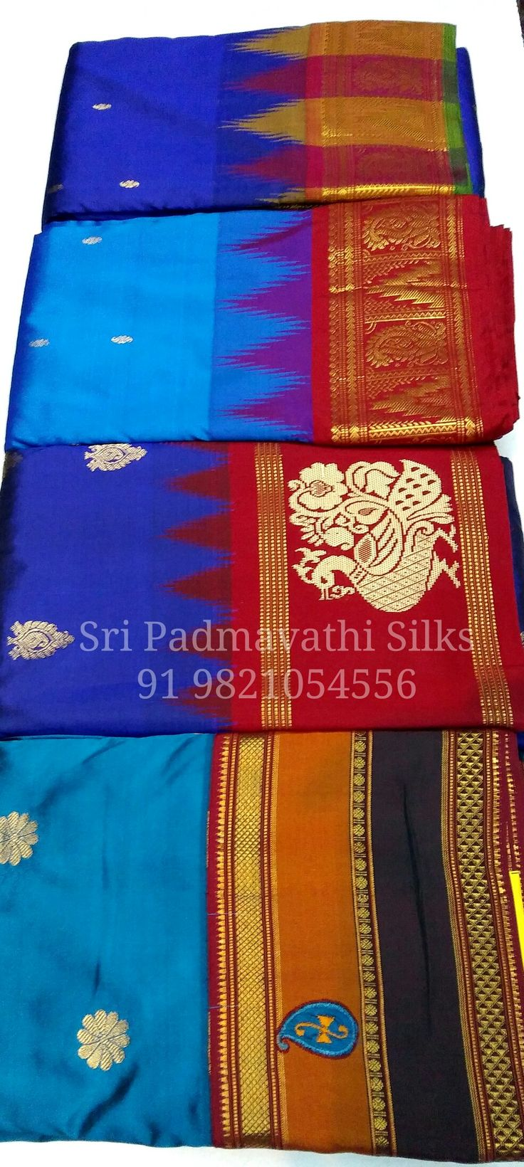 Varunaa Collection - Kancheepuram handloom pure silk sarees with traditional contrasts and temple border and gold zari butti on the drape. For an elegant evening look at parties and receptions. Book now 91 9821054556 Email: geetharavi25@gmail.com Sri Padmavathi Silks, the only South Indian store in Dombivli, India. Kancheepuram handloom pure silk sarees in Mumbai. All credit and debit cards accepted. International shipping available. Wholesale orders accepted.