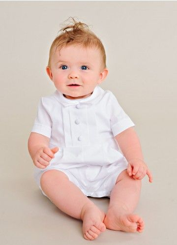 Tyler Christening Rompers