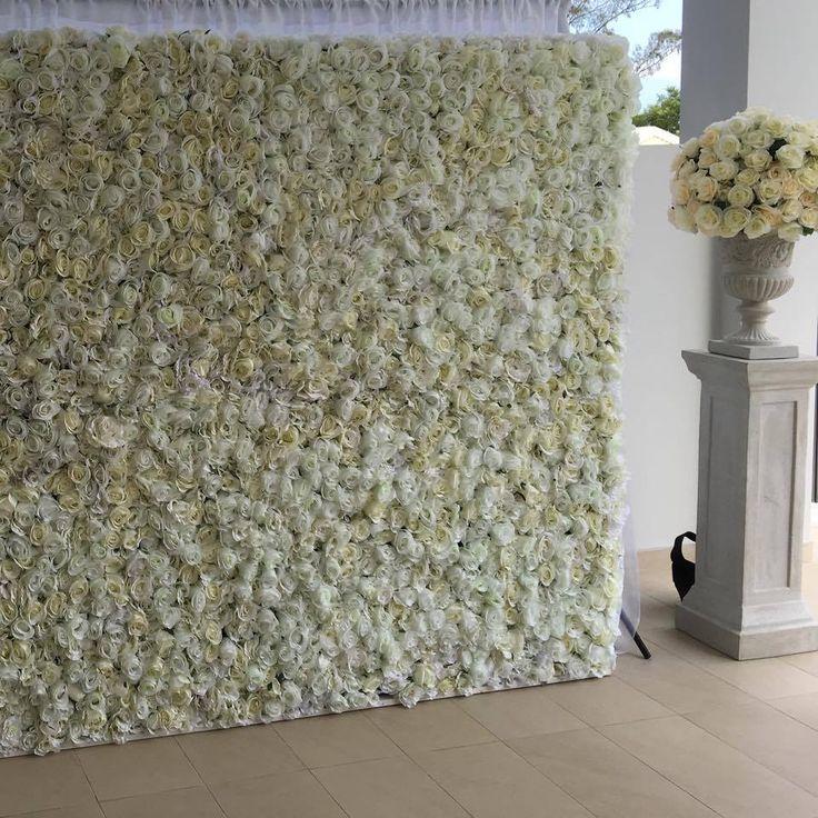 White flower wall www.flowerwallco.com.au #flowerwall #flowerwallco…