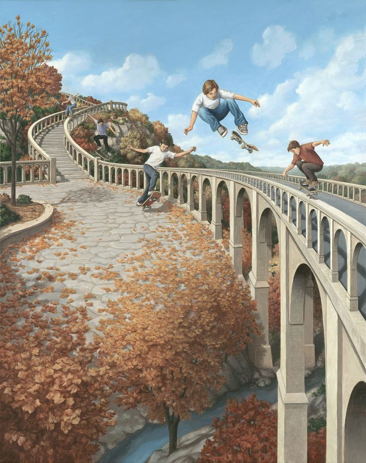 The incredible paintings of Rob Gonsalves - Imgur