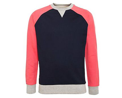 Coral Men's Contrast Sweater