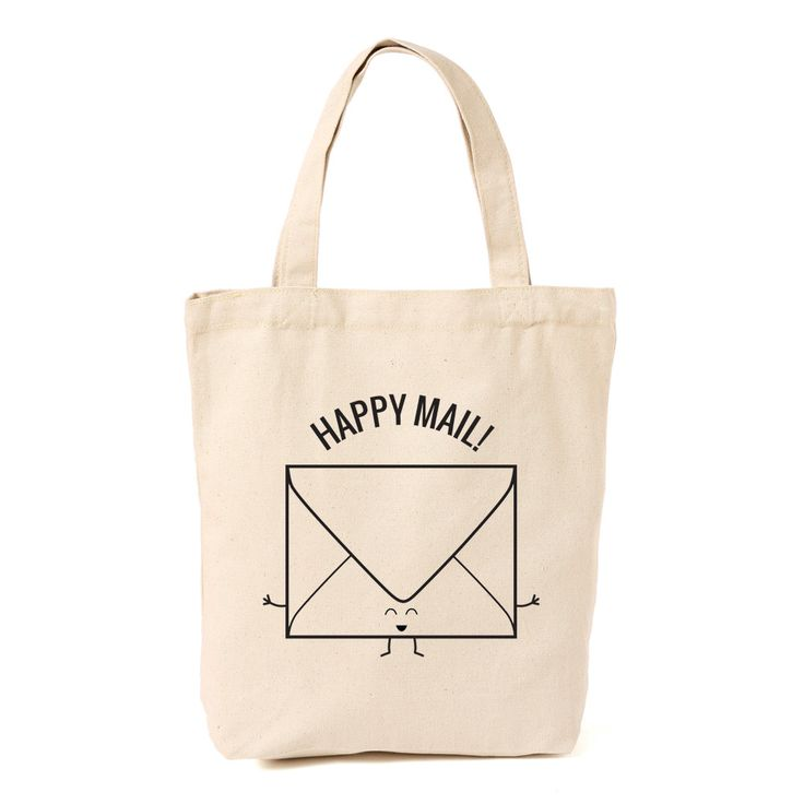 happy mail tote bag by queeniescards.com