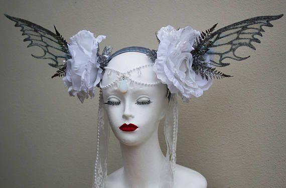 Magnificent Ice Queen/Snow/Winter Flower Fairy Headdress