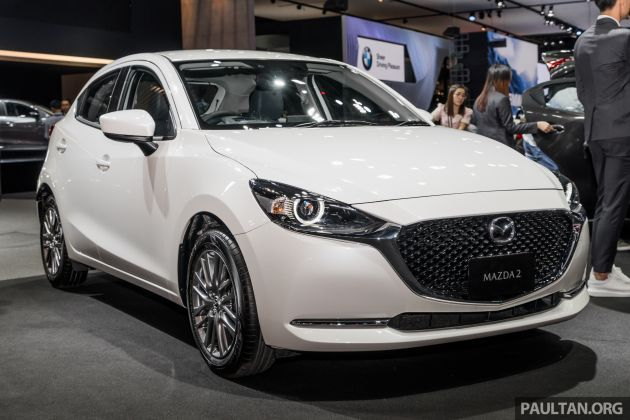 2020 Mazda 2 Facelift Launched At Thailand Motor Expo 1 3l Petrol And 1 5l Diesel 7 Variants From Rm75k Mazda Mazda 2 Petrol