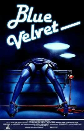 Blue Velvet (1986) American neo-noir mystery film, written and directed by David Lynch. Blending psychological horror[3][4] with film noir, the film stars Kyle MacLachlan, Isabella Rossellini, Dennis Hopper and Laura Dern. The title is taken from Bobby Vinton's 1963 song of the same name.