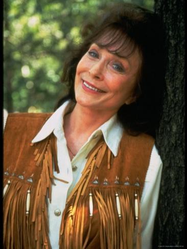 Portrait of Country Western Singer Loretta Lynn