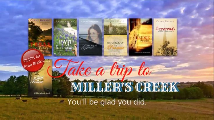 Free | Christian Fiction | eBooks | Miller's Creek Novels | 2018 | Cathy Bryant | multiple formats  All Cathy's Miller's Creek Novels eBooks are free in multiple formats. Download yours here:  https://cathybryantbooks.wordpress.com/books/millers-creek-novels/