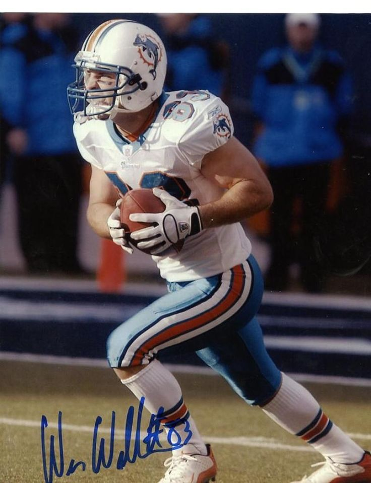 WES WELKER MIAMI DOLPHINS SIGNED AUTOGRAPHED 8X10 PHOTO W/COA