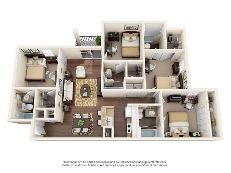 4 Bedroom 4 Bath | 4 Bed Apartment | College Station in ...