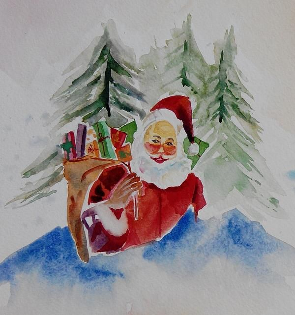 #santaclaus #saintnick #nicholas #watercolor #gifts #christmas