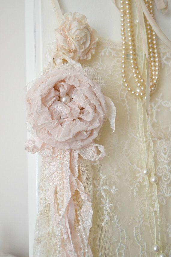 Blush Silk and Tulle Gillyflower Handmade by by Jenneliserose