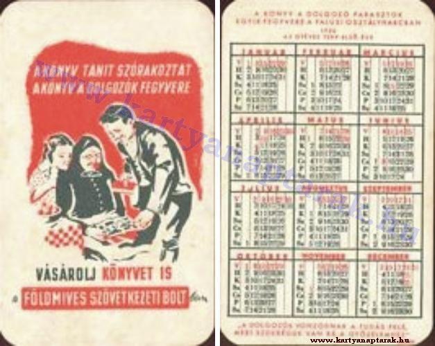 1950 - 1950_0001 - Régi magyar kártyanaptárak