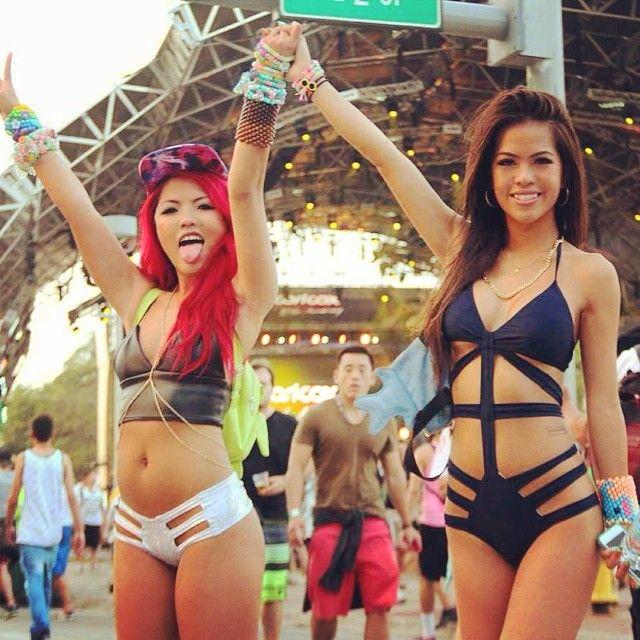 Asian girls at raves