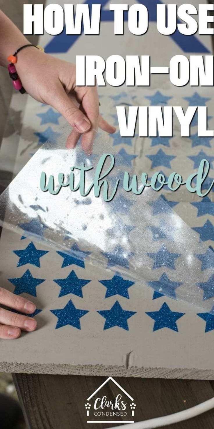 Wie Eisen auf Vinyl mit Holz + DIY Front Porch Sign verwenden