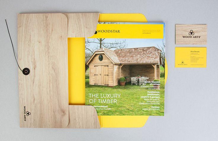 Woodarts - Salesmap met preeg en japanse sluiting   by Skinn Branding Agency
