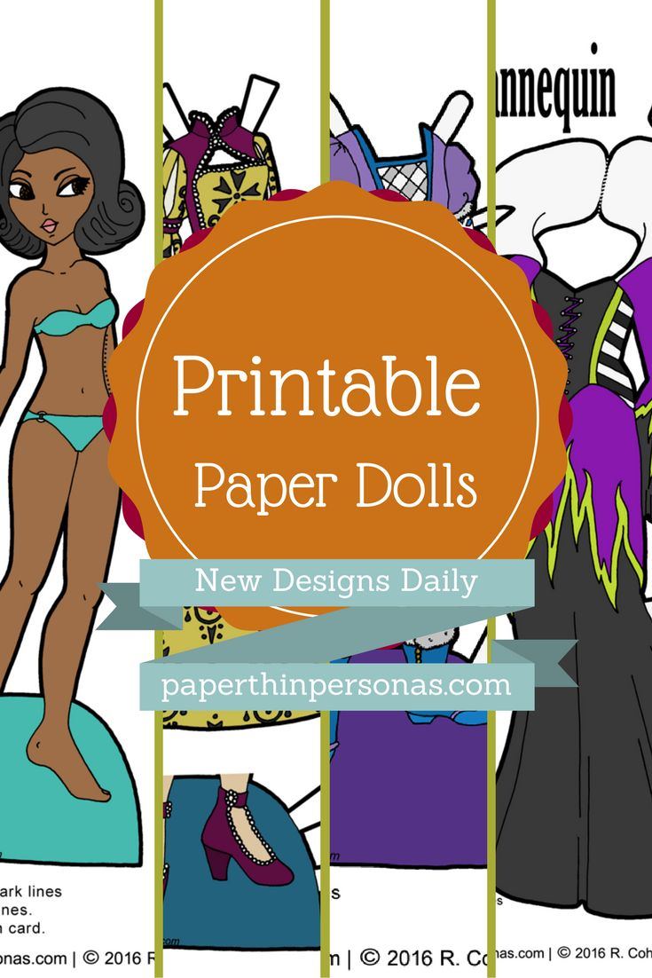 Hundreds of Printable Paper Dolls. Dozens of themes. Updates Monday Through Friday.