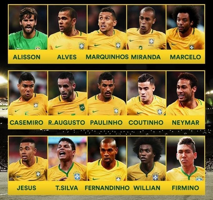 Brazil World Cup 2018 Squad Fifaworldcup Fifa2018 2018fifaworldcup Russiaworldcup Football World Cup Brazil Football Team Brazil World Cup