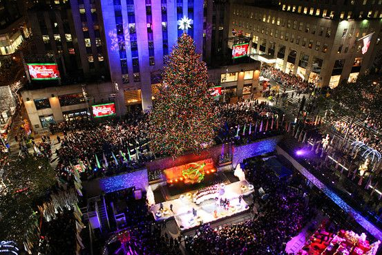 The Rockefeller Center Christmas Tree Lighting.: Buckets Lists, New York Cities, Center Christmas, Cities Christmas, Nyc, Trees Journey, Trees Lights, Street Christmas, Christmas Trees