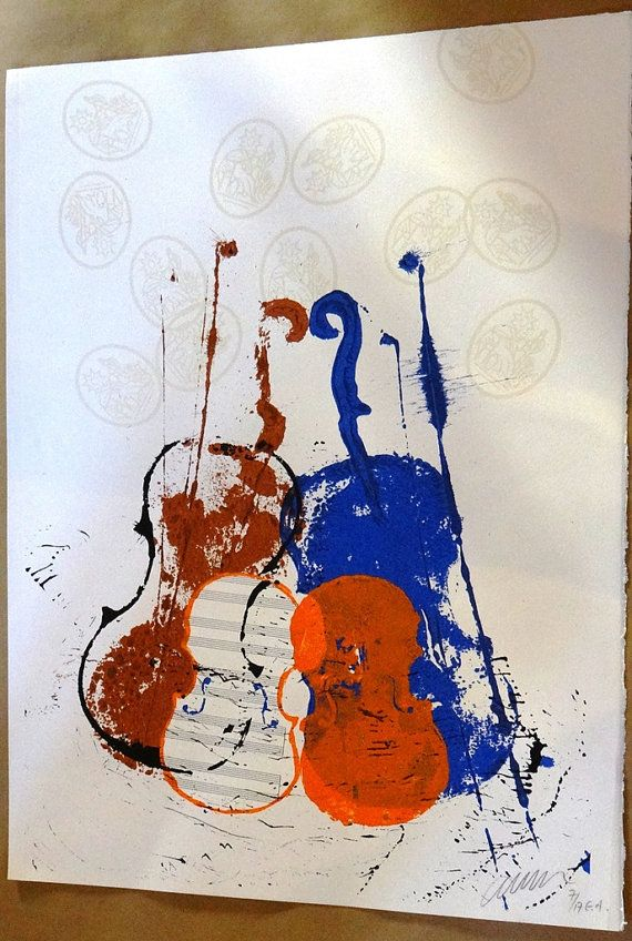Arman Violins collection Large wall art by MarieArtCollection