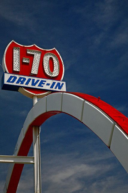 I-70 Drive-In - Kansas City MO - right next to the Yellow Freight yard, where my husband worked