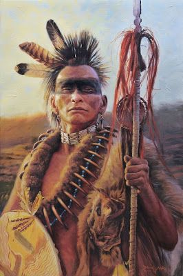 Pawnee Warrior   by David Yorke's art
