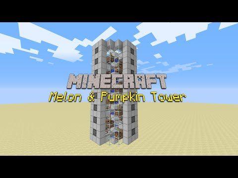 Compact Automatic Melon & Pumpkin Farm [Minecraft Tutorial] - YouTube