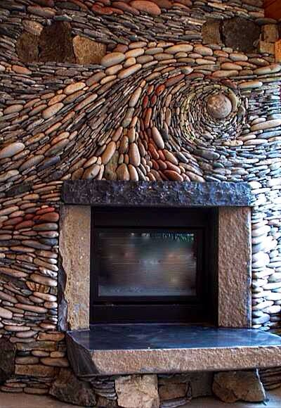 1000 ideas about river rock fireplaces on pinterest - Fireplace hearth stone ideas ...