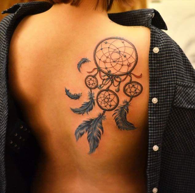 Back Shoulder Dreamcatcher Tattoo