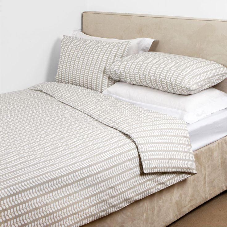 Discover the Orla Kiely Linear Stem Grey Duvet Cover - Double at Amara