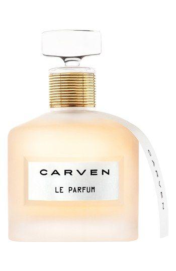 Carven 'Le Parfum  Notes: - Top: neroli, mandarin blossom, white hyacinth. - Middle: jasmine, ylang ylang, sweet pea. - Base: white sandalwood, wood.
