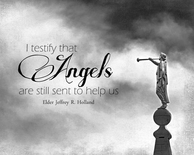 """Angels are still sent to help us"" Print Freebie (Jeffrey R. Holland)"