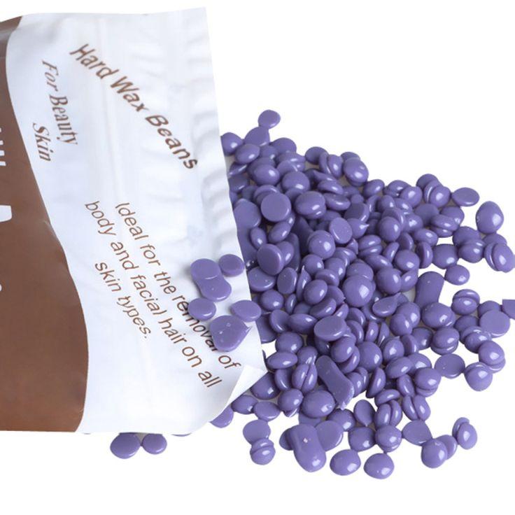Meilleure Offre New Violet Couleur Aucune Bande Dépilatoire Chaude Film Dur Cire Granulés Épilation Bikini Épilation De Haricots 1 Pack