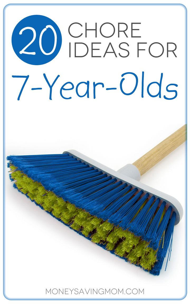 20 Chore Ideas for 7-Year-Olds -- Love these practical ideas for teaching your children to enjoy doing chores. Plus, some chore ideas you may not have thought of assigning to a young child. Great list!