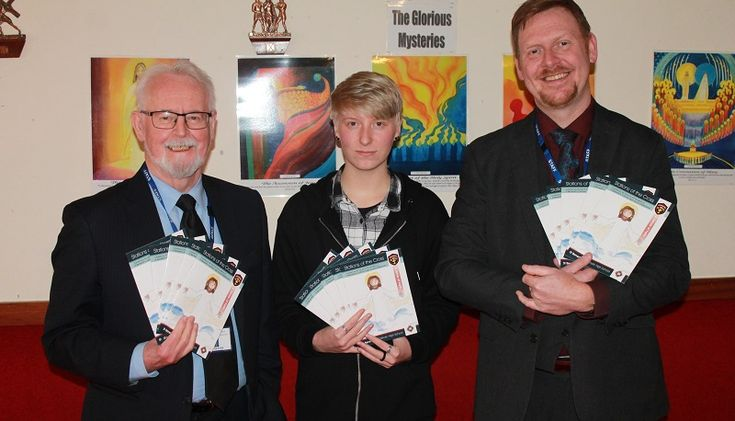 St Benedict's Students' Exceptional Artwork Used in New Booklet https://www.cumbriacrack.com/wp-content/uploads/2018/03/Chair-of-Governors-Willie-Slavin-Student-Tyler-Hartley-and-Subject-Leader-for-RE-Ian-Nevitt-taking-delivery-of-the-booklets.jpg A talented student from St Benedict's School has helped complete a brand new booklet based on Stations of the Cross, by producing all of the artwork for the publication.    https://www.cumbriacrack.com/2018/03/05/st-benedicts-