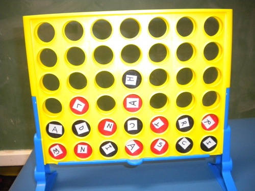 Adapted Connect 4 - Try to Spell a 3 or 4 letter word  Skills the Activity Promotes:    1. visual scanning    2. figure ground    3. visual motor    4. praxis    5. spelling/reading skillsSpelling Connection, Adaptations Connection, Math Lessons, Visual Scanning, Letters Words, Figures Ground, Activities Promotion, Spelling Games, Visual Motors
