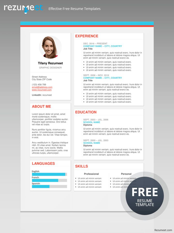 126 best Classic resume templates images on Pinterest Free - the modern resume