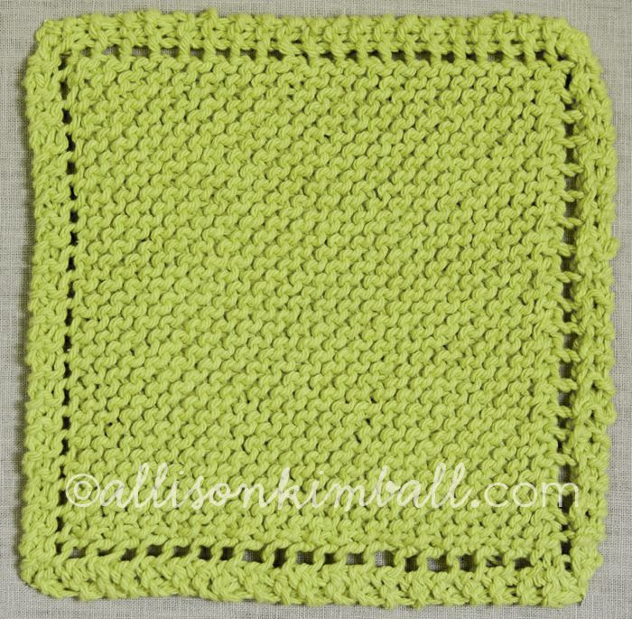 Knit Washcloth Pattern