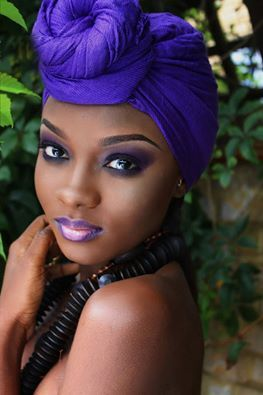 royal purple head wrap- turbante