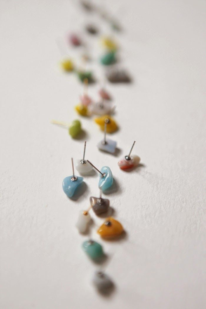 hello, whimsy.: TUTORIAL: pebble studs earrings