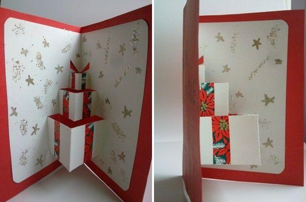 Biglietti di auguri di Natale fai da te con carta di riciclo