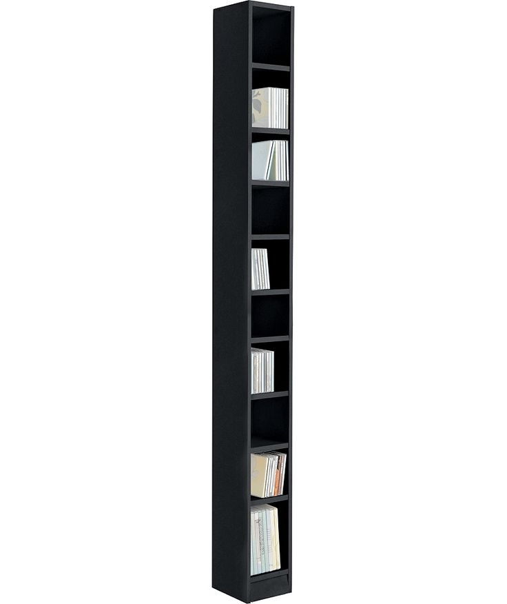 Buy Maine Tall DVD And CD Media Storage Tower   Black Ash Effect At Argos.