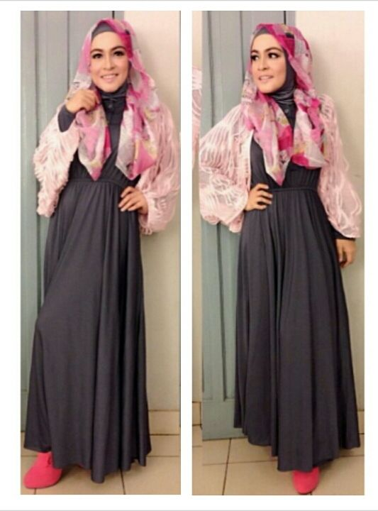 Astrid 'uya Kuya' wearing Magnolia inner dress (325.000) and Rumbai Style (275.000) + Pasmina Chiffon Newspaper look (90.000)  get it on! order 085888934888  #MyRinBoutique #HijabStyle #Clothing #CelebStyle #Muslimah #ForSALE #Fashion #MixNmatch #Scarf #Women #outfits